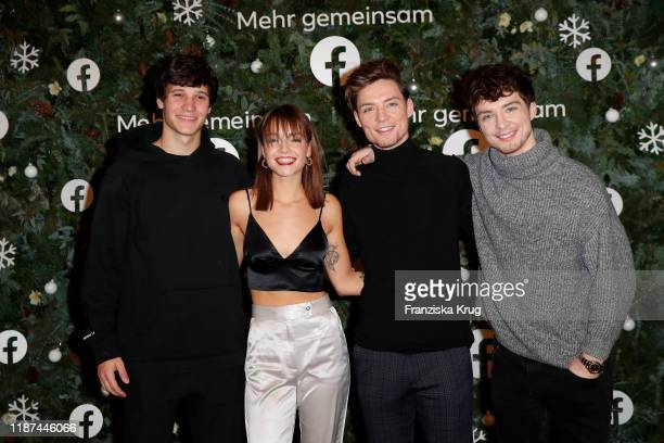 Wincent Weiss Singer LOTTE Roman Lochmann and Heiko Lochmann during the Facebook Christmas Concert on December 9 2019 in Hamburg Germany