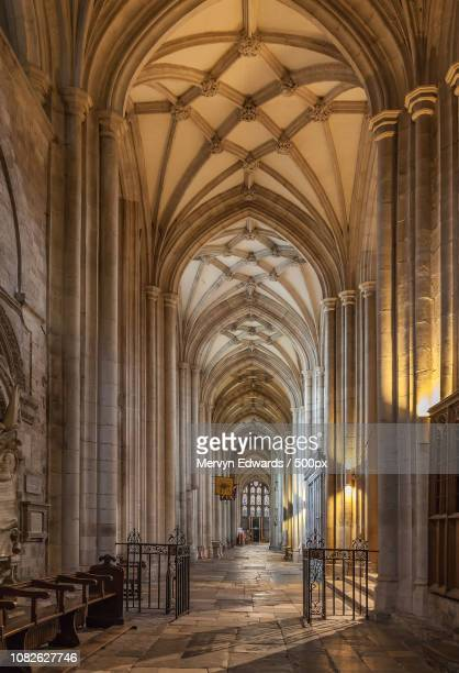 winchester cathedral - nave stock pictures, royalty-free photos & images