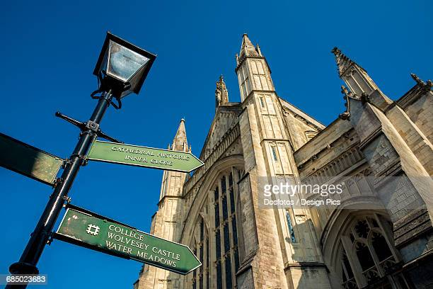 winchester cathedral - winchester hampshire stock photos and pictures