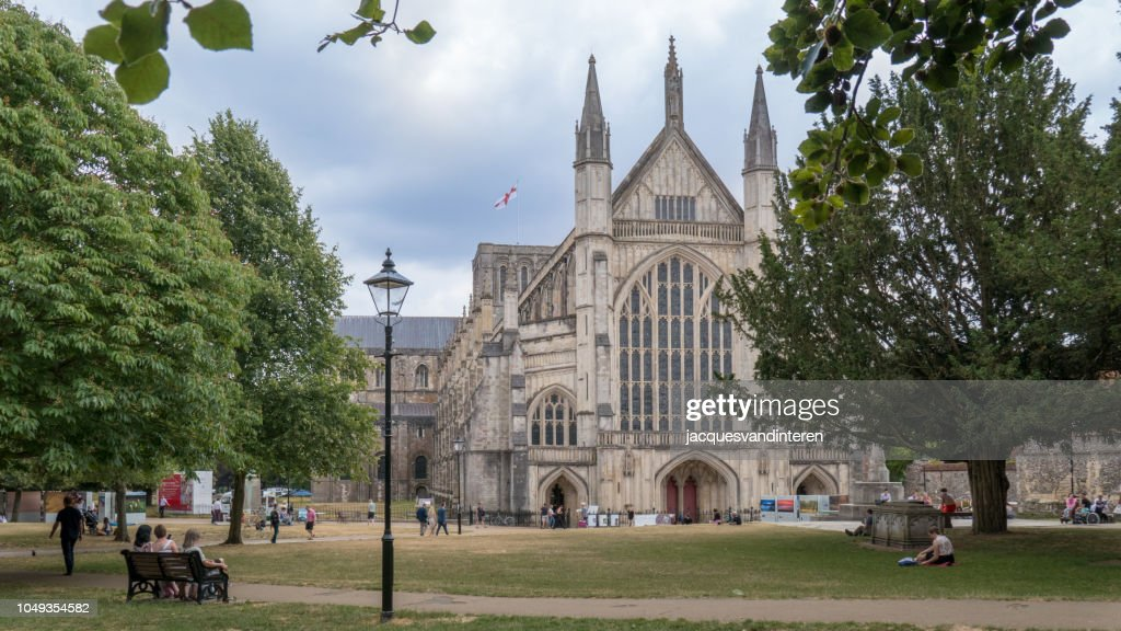 Catedral de Winchester, Winchester, Inglaterra (Reino Unido) : Foto de stock