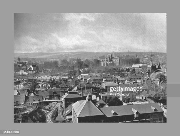 Winchester from St.Giles Hill, c1900. Winchester is a city and the county town of Hampshire, England. From Sights and Scenes in England and Wales....