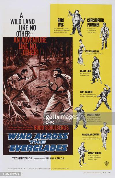 Wind Across The Everglades poster US poster from top Burl Ives Christopher Plummer Gypsy Rose Lee Chana Eden Tony Galento Emmett Kelly MacKinley...