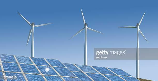 Wind-と Solarenergy (画像の XXXL サイズ)