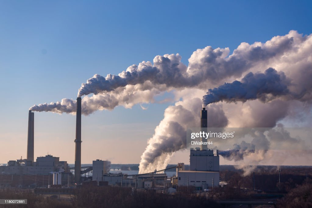 Wind Blowing Pollution : Stock Photo
