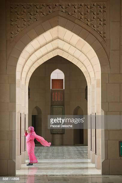 Wind Blowing Woman's Hijab
