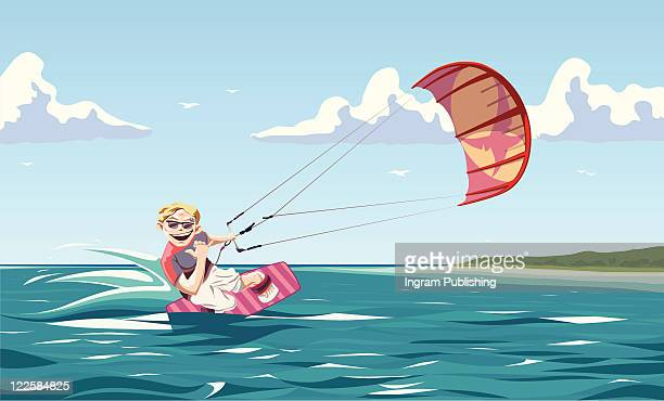wind catching. - vector stock pictures, royalty-free photos & images