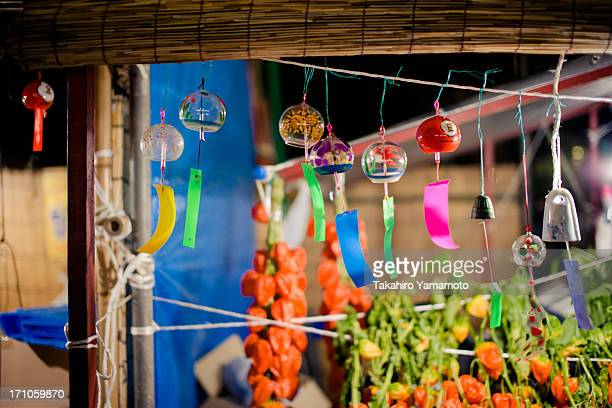 Wind Chimes on Sale at a Summer Festival