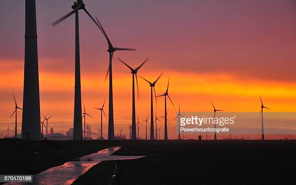 Wind Energy at sunrise