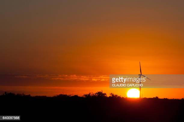 wind energy mill - claudio capucho stock photos and pictures