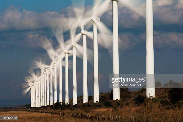 wind energy power station Provence France