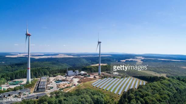 Windparks und solar-Anlage