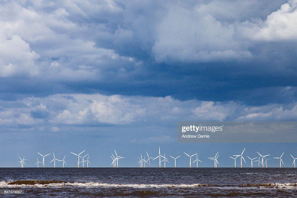 Wind Farm, east coast UK : Stock Photo