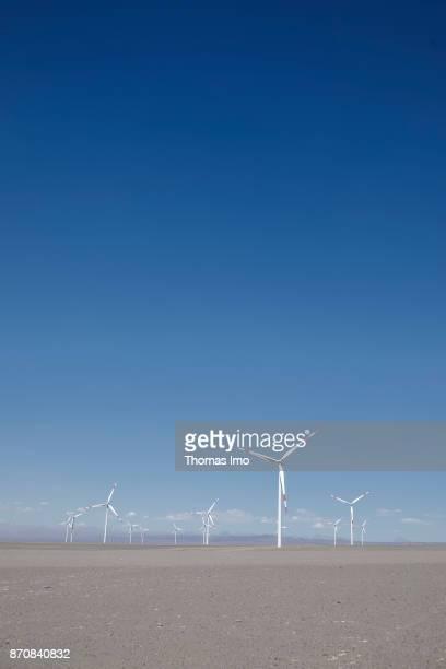 Wind farm in the Atacama desert on October 17 2017 in Atacama Desert Chile