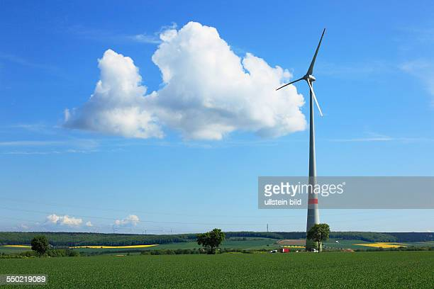 wind farm in the Bueren Country at Bad Wuennenberg wind generator wind power electricity generation DBad Wuennenberg spa town Aabach Buerener Land...