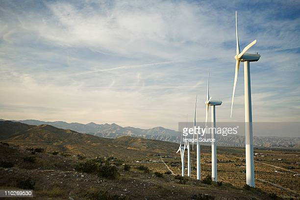 wind farm, indian wells, california, usa - indian wells california stock pictures, royalty-free photos & images