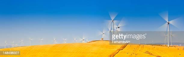 Wind farm long exposure panorama