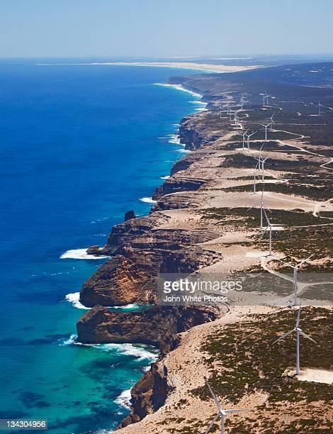 Wind farm on coast of Eyre Peninsula