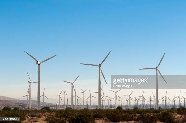 wind farm, palm springs, california, usa - palm springs california stock pictures, royalty-free photos & images