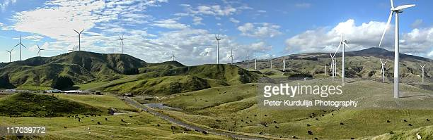 wind farm - palmerston north new zealand stock pictures, royalty-free photos & images
