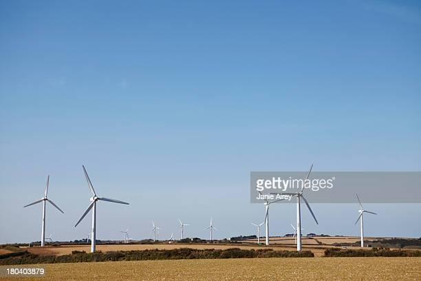Wind farm Truro, Cornwall, England, UK