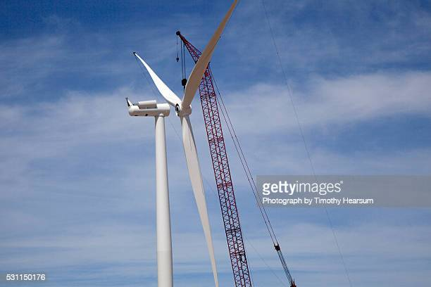 wind generator assembly - timothy hearsum stock pictures, royalty-free photos & images