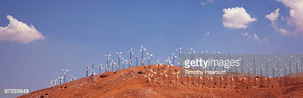 wind generators on hillside - timothy hearsum stock pictures, royalty-free photos & images
