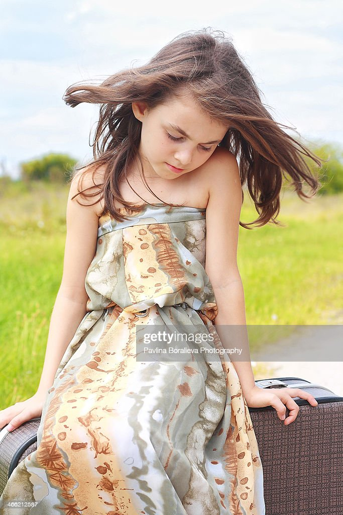 Wind in the hairs : Stock Photo