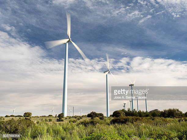 Wind mills of production of electric power for the consumption on the top of a mountain