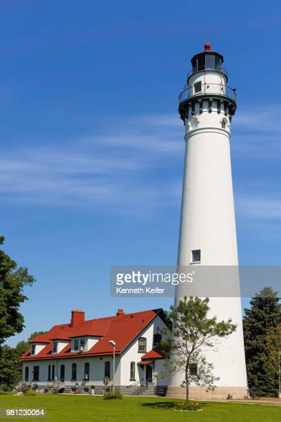wind point lighthouse in wisconsin - iowa_county,_wisconsin stock pictures, royalty-free photos & images