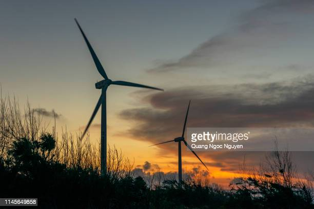 wind power is developing in vietnam. - generator stock pictures, royalty-free photos & images