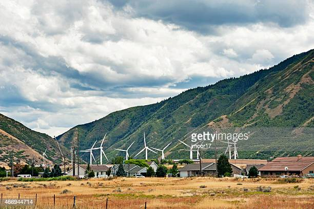 wind power near provo utah - provo stock pictures, royalty-free photos & images