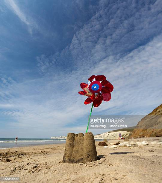 wind power - compton bay isle of wight stock pictures, royalty-free photos & images