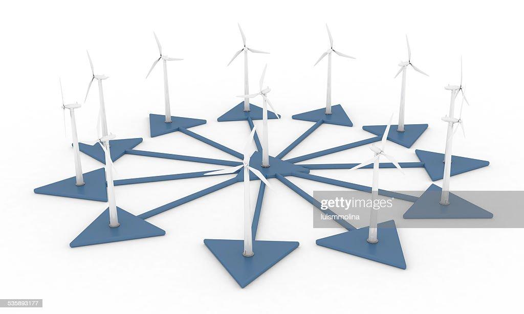 風力発電 : ストックフォト