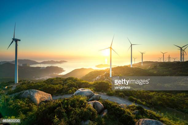 wind power - windmills stock photos and pictures