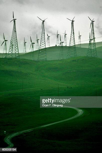 Wind Power Plant in the Altamont Pass in Dublin California