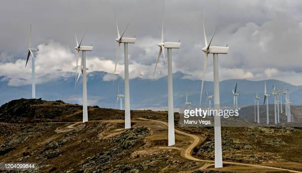 wind power station green ecological power energy generation. stock photo - alternative lifestyle stock pictures, royalty-free photos & images