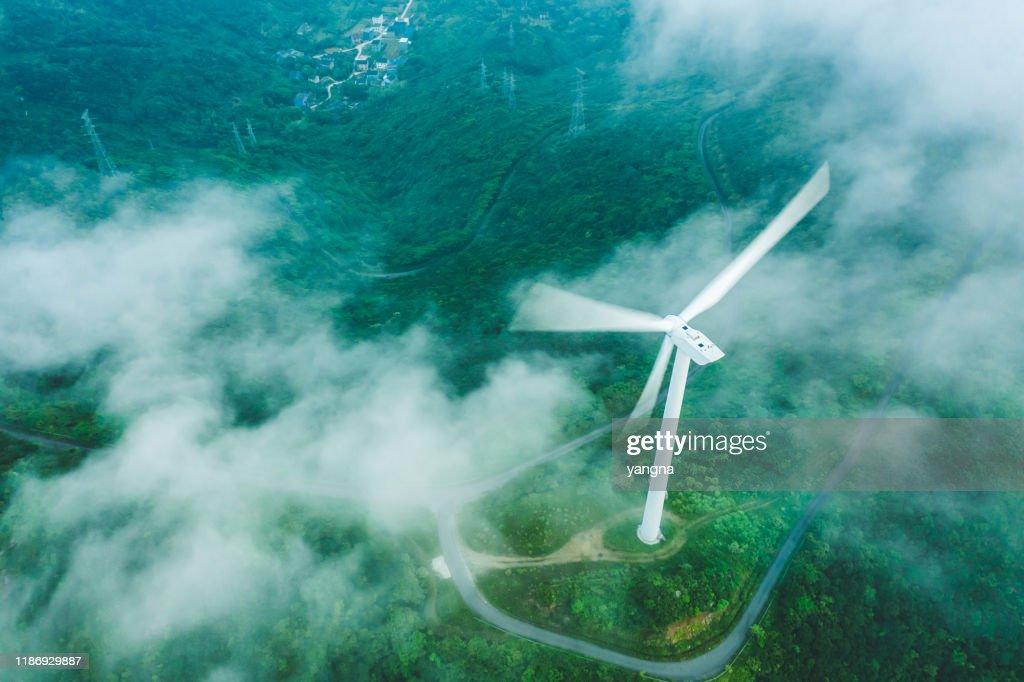 Vindkraftverket på fjället : Bildbanksbilder