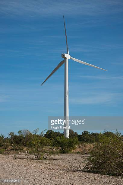 wind powered electricity generation - hugh threlfall stock pictures, royalty-free photos & images