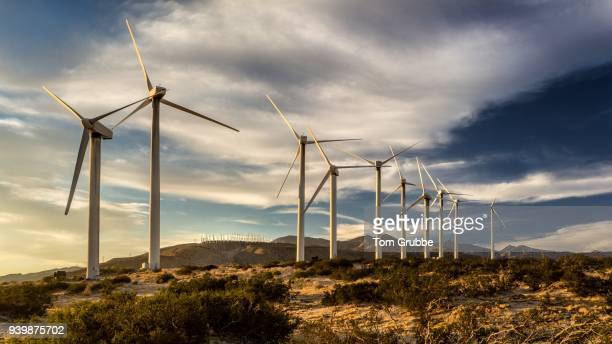 wind powered - palm springs california stock pictures, royalty-free photos & images