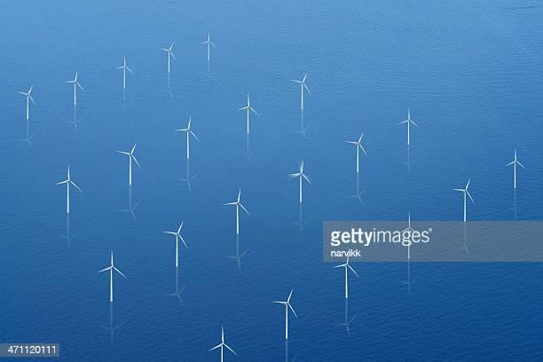 Wind Propellers on Calm Sea