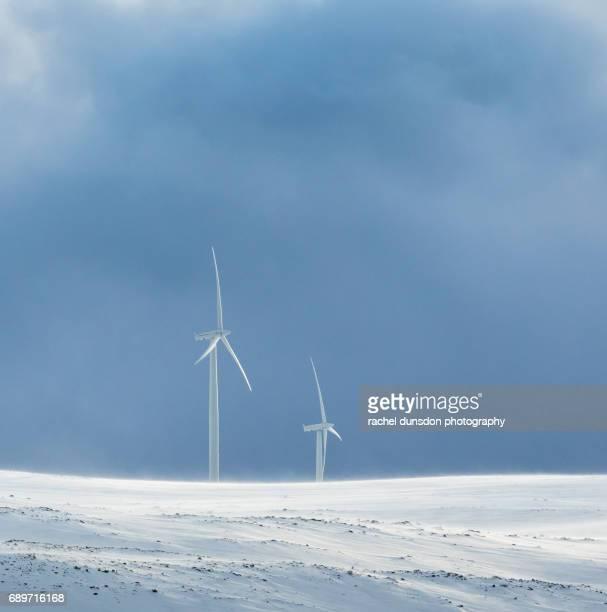 Wind Pumps in Blizzard