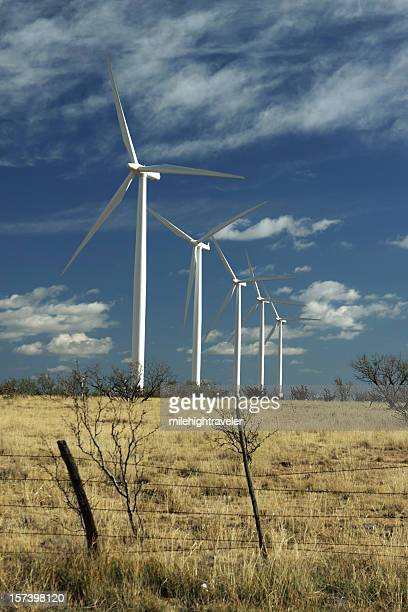 Wind Ranch turbines on dry Texas grasslands