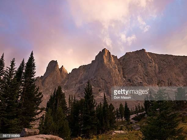 Wind River Mountains under clouds, Pinedale, Wyoming, United States