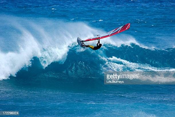wind surfing - windsurfing stock pictures, royalty-free photos & images