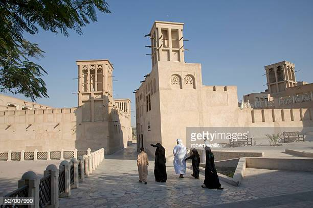 Wind towers in the Bastakia Quarter of Old Dubai