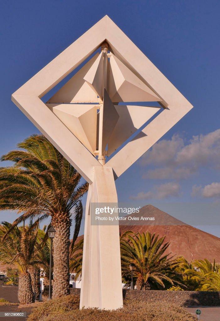 Wind Toy mobile sculpture by César Manrique in Lanzarote, Canary Islands, Spain : Foto de stock