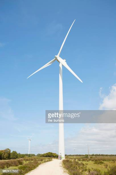 Wind turbine against sky