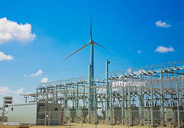 wind turbine and power collection grid substation