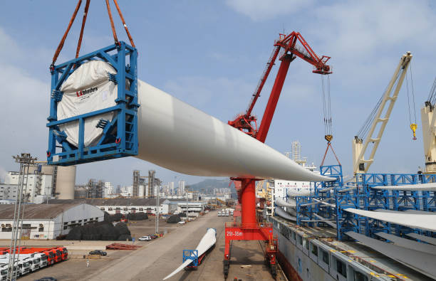CHN: Wind Turbines Export In Lianyungang Port