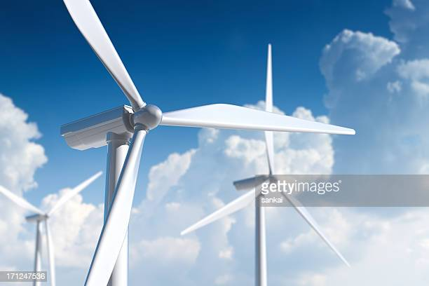Wind turbine. Ecological power generation.